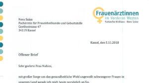 05112018 Offener Brief Der Frauenärztin Nora Szász An Andrea